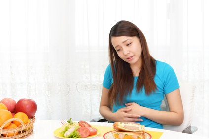 abdominal pain after food