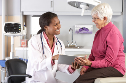 Doctor with elderly woman
